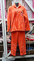 Теплая женская турецкая махровая пижама