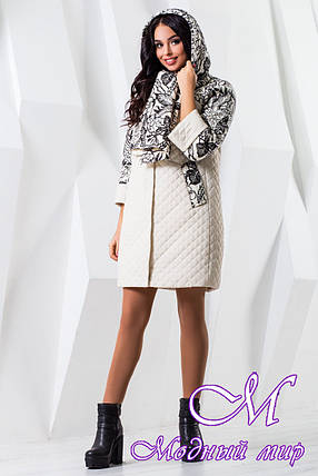Женское модное пальто больших размеров (р. 44-60) арт. 971 Тон 8, фото 2
