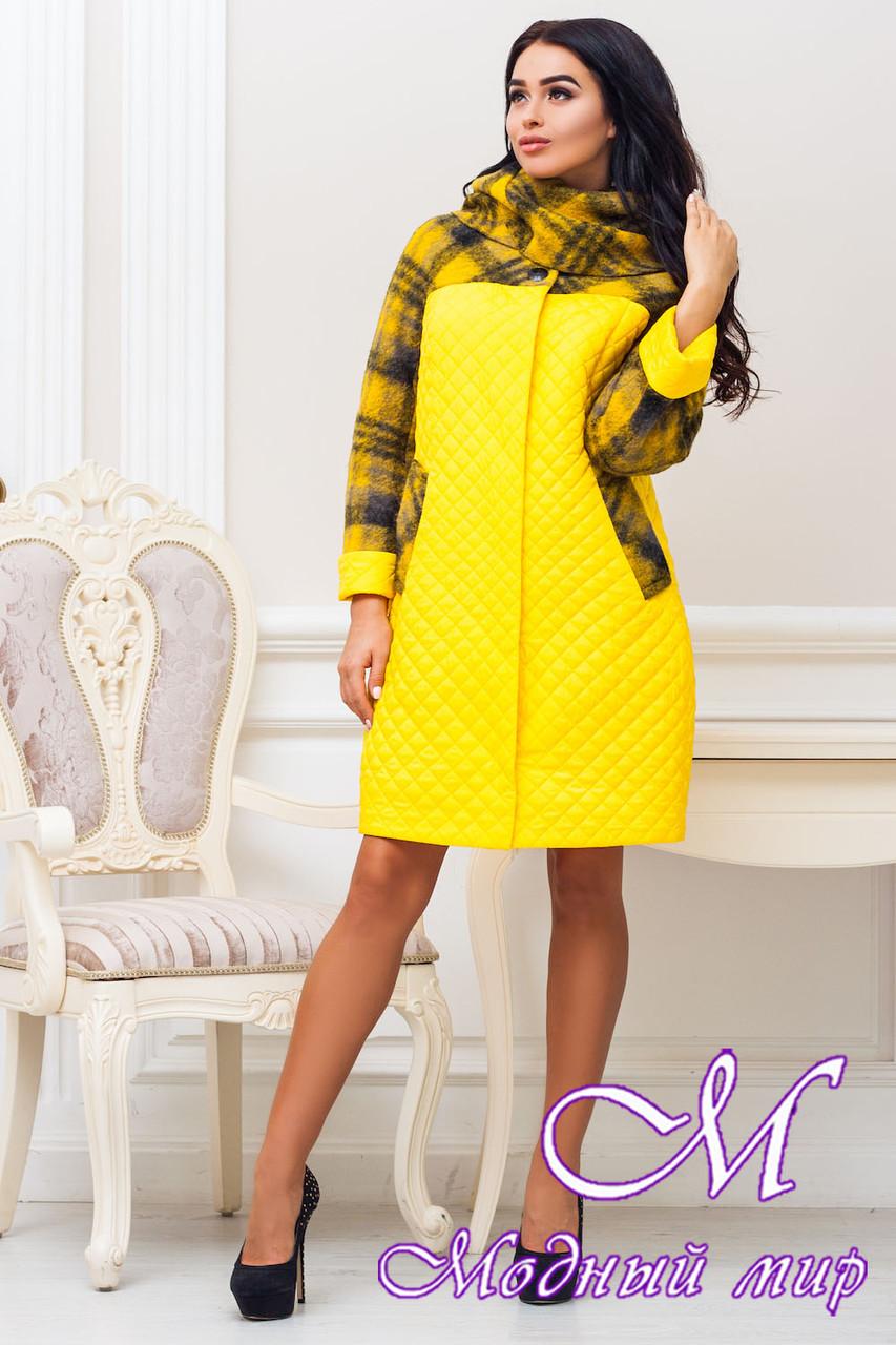 Женское осеннее пальто больших размеров (р. 44-60) арт. 971 Тон 1