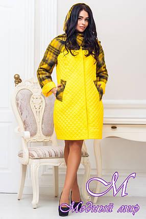 Женское осеннее пальто больших размеров (р. 44-60) арт. 971 Тон 1, фото 2