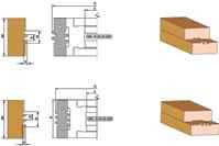 Фрезы для сращивания древисины, с механическим креплением двухсторонних ножей D120-d32/40-B50/60-z4