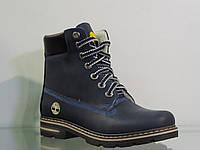 Стильные женские кожаные ботинки зима 40
