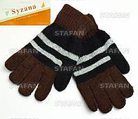 Шерстяные детские перчатки с начёсом Syzana B235M2-4-R