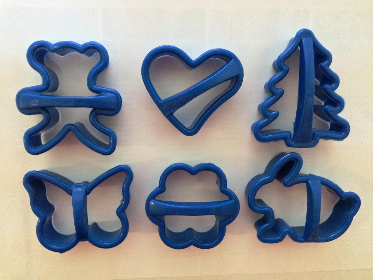 """Форма для печенья для печенья """"Ассорти"""" пластик 6 шт, Галетте  -05294"""