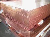 Медный лист 1,0х600х1500 мм М1, М2