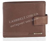 Вместительный стильный кожаный мужской кошелек из мягкой кожи с визитницей Loui Vearner art. LOU-4202M коричне