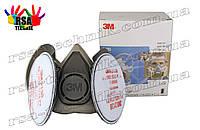 Защитная полумаска,респиратор серии 6000, 3M 6200 в сборе с фильтрами 2138 P3