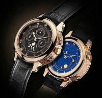 Мужские наручные часы Patek Philippe Sky Moon Gold Black, фото 1