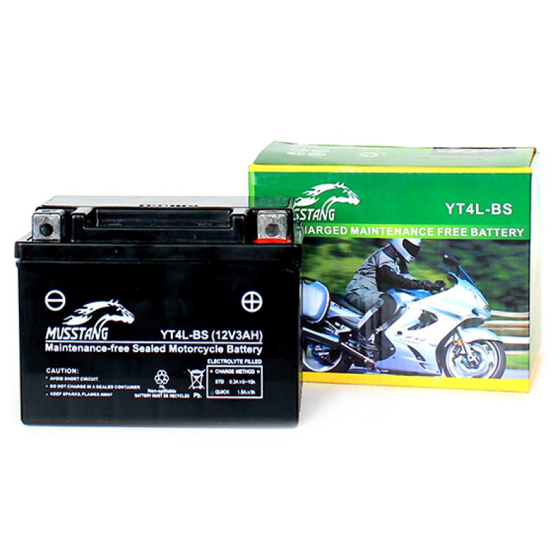 Аккумулятор гелевый на мотоциклы Alfa/Delta (4 А/ч, YT4L-BS)