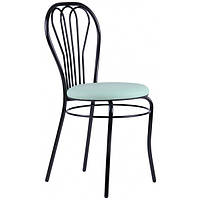 Стул для кафе Вена Лак, К/з Черный, стул, нестандартная