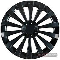 Колпаки колесные MERIDIAN BLACK, радиус R15, комплект 4шт, Jestic