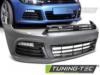 Передний бампер тюнинг Volkswagen VW Scirocco в стиле R