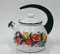 Чайник со свистком 2,5л 2711/2 Весенний букет Epos