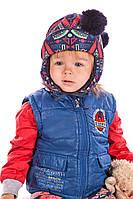 Универсальная детская шапка с помпонами