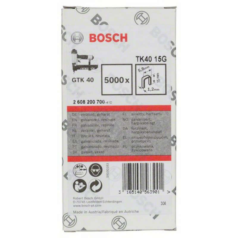 5000 скоб TK40 15G для Bosch GTK 40