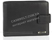 Вместительный стильный кожаный мужской кошелек из мягкой кожи  Loui Vearner art. LOU-4205A черный