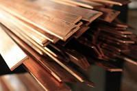 Шина медная М1 5х100 Полоса медная М1 твердая 4х120х4000  купить цена доставк, порезка. ООО ТК Айгрант