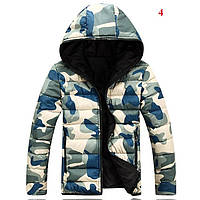 Зимняя мужская куртка, цвет - хаки, утеплитель - хлопок