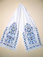 "Рушник з вишивкою ""Добробут"" синя вишивка(рушник 43*220 см.)"