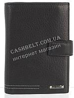 Элитное стильное кожаное мужское портмоне с документницей из мягкой кожи Loui Vearner art. LOU-4201A черный