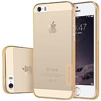 TPU чехол Nillkin Nature для Apple iPhone 5/5S/SE (Золотой)