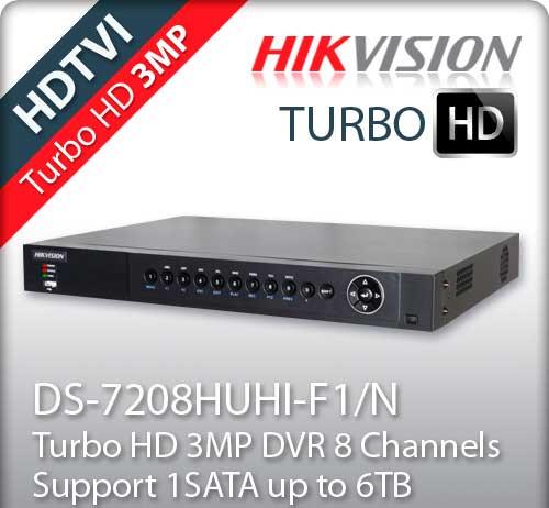 Turbo HD видеорегистратор DS-7208HUHI-F1/N