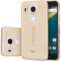 TPU чехол Nillkin Nature для LG Google Nexus 5x (Золотой)