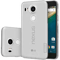 TPU чехол Nillkin Nature для LG Google Nexus 5x (Серый)
