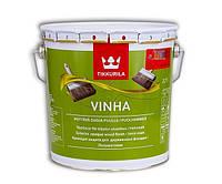 Краска антисептическая TIKKURILA VINHA для деревянных фасадов, VVС-транспарентная, 2,7л