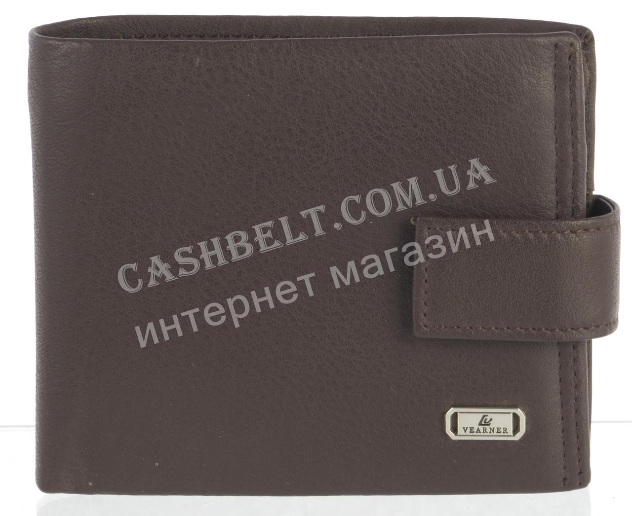 Прочный стильный кожаный мужской кошелек из мягкой кожи Loui Vearner art. LOU84-1077C коричневый