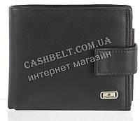 Прочный стильный кожаный мужской кошелек из мягкой кожи с визитницей Loui Vearner art. LOU84-594A черный