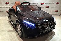 Детский электромобиль S-63 Mercedes, мягкие колеса EVA,мягкое сидение, черный