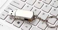 Флешка USB металлическая 16GB брелок