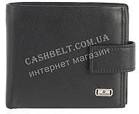 Прочный стильный кожаный мужской кошелек из мягкой кожи Loui Vearner art. LOU84-1077A черный