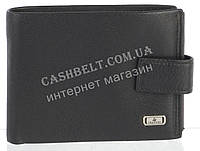 Прочный стильный кожаный мужской кошелек из мягкой кожи Loui Vearner art. LOU84-056A черный