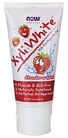 Детская зубная паста со вкусом клубники Now Foods, Solutions, Xyli-White, Kids Toothpaste Gel, 85 gram