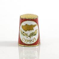 Винтажный наперсток Клуазоне,  CYPRUS, латунь, эмаль , фото 1
