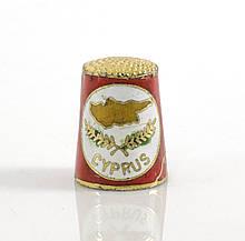 Старый бронзовый наперсток Клуазоне, латунь, бронза, перегородчатая эмаль, CYPRUS