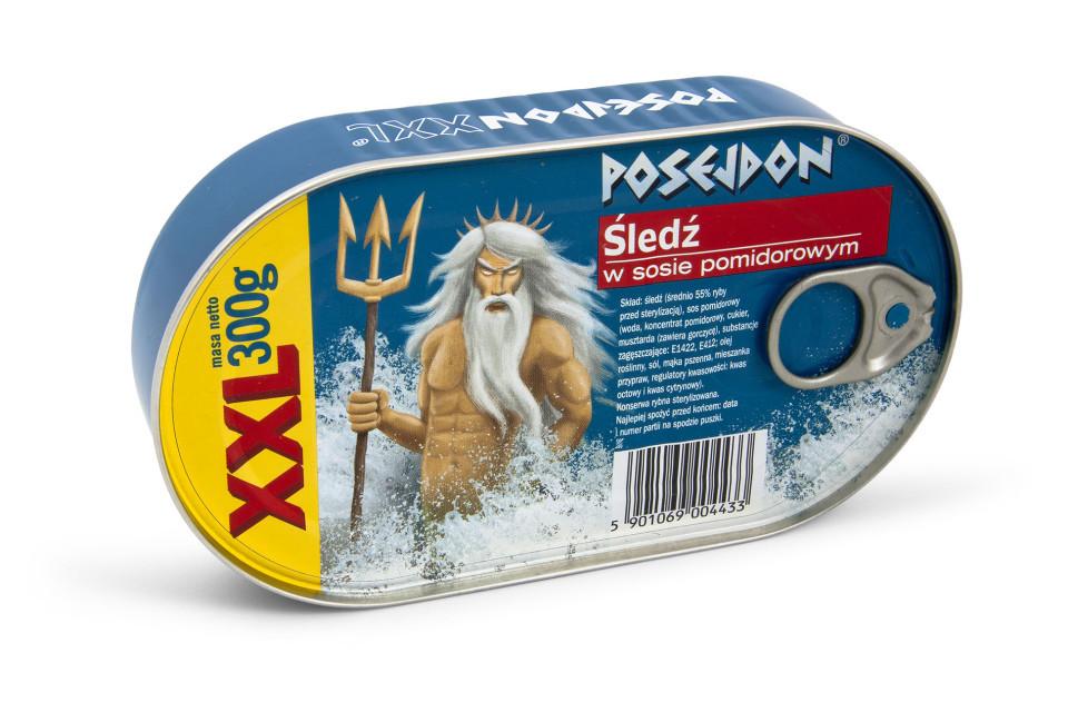 Шпроты Poseidon (Посейдон) 300 г. в томатном соусе