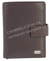 Прочное стильное кожаное мужское бумажник-портмоне из мягкой кожи Loui Vearner art. LOU84-368C коричневый