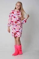 Качественный детский халат с капюшоном