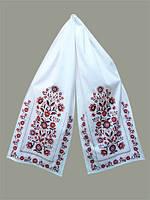 """Рушник з вишивкою """"Добробут"""" червона вишивка(рушник 43*220 см.)"""