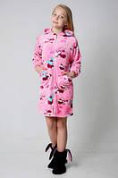 Красивый махровый детский халат для девочки