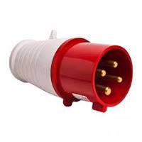Вилка 4*32А IP44  3126-301-1600 t-plast