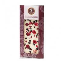 Шоколад белый Шоудье с клюквой и черникой , (100 г )