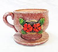 """Вазон """"Чашка з блюдцем"""" №2 (v-3)ОРА АГРО-ЕКО"""