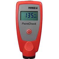 Толщиномер Phynix PaintCheck: черный/цветной металл, 0-2000 мкм, 2хААА, 10,7х5х2,5 см, 2 чехла