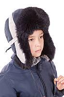Детская шапка для мальчика с белым