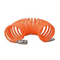 Шланг спиральный 5,5*8 мм 10 м, полиэтиленовый
