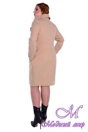 Женское осеннее батальное пальто (р. XL-4XL) арт. Магия донна дем. - 5496, фото 2